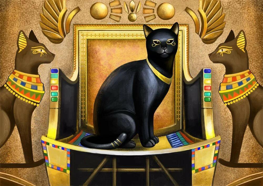нашла коты в египте рисунок позволит вам