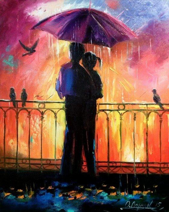 Картинки встреча влюбленных нарисованные