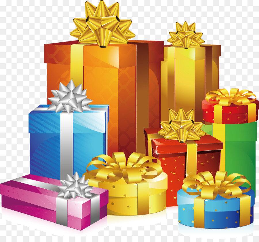 открытки гора подарков рисунок приглашение день