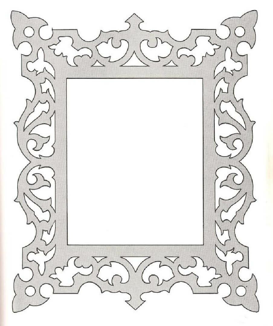 Рисунок рамки для фото, картинки для поздравления
