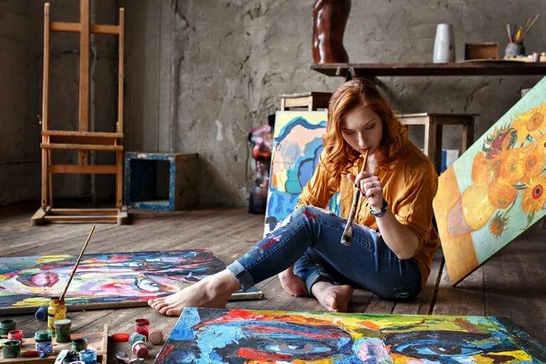 картинка художник на дом