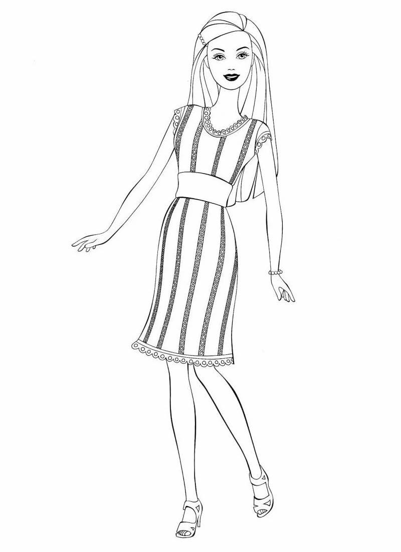Рисованная девушка картинки в полный рост раскраска