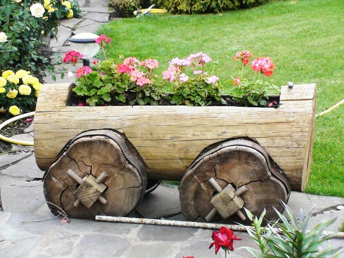 Декоративные украшения для сада из дерева фото