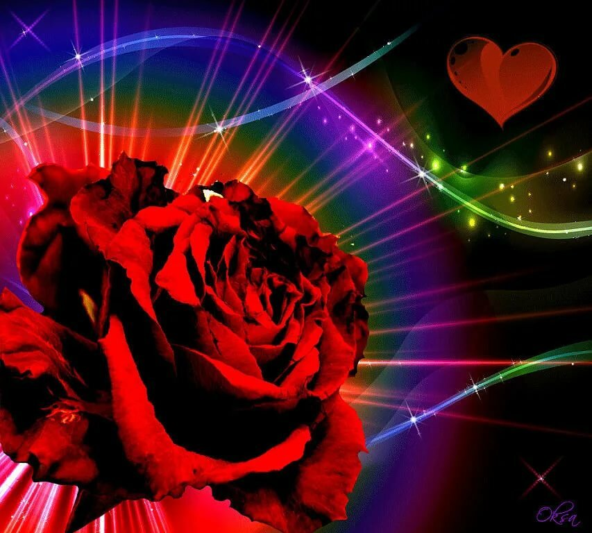 Розы мерцающие двигающиеся картинки гиф выбрала русый