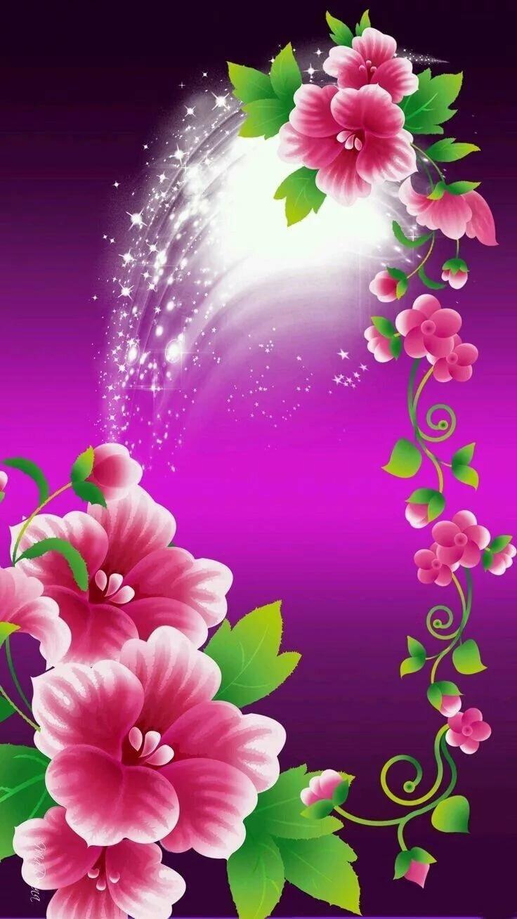 Цветы анимация картинки на телефон, ные открытки поздравления