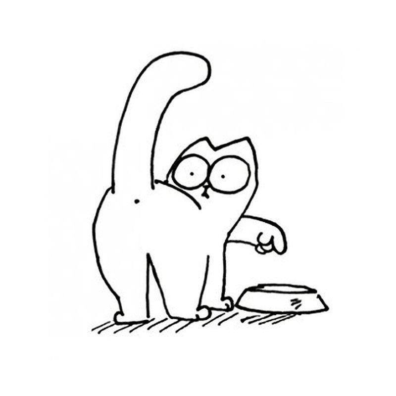 черно-белые картинки для распечатки кот саймон окна светит