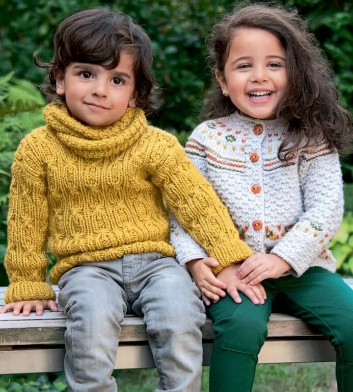 Детское вязание в картинках