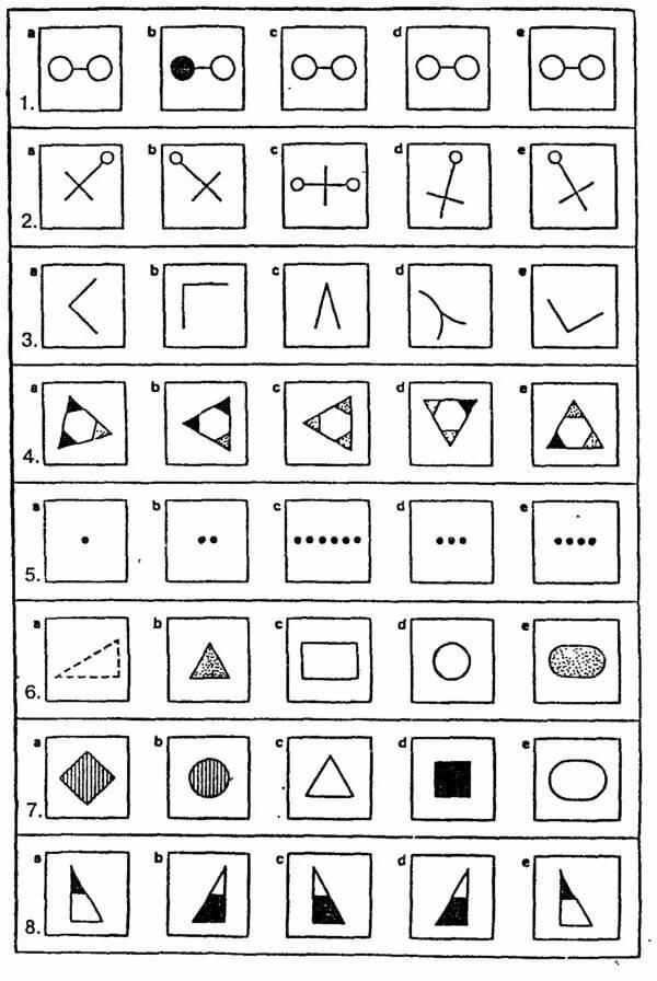 Картинки из теста векслера