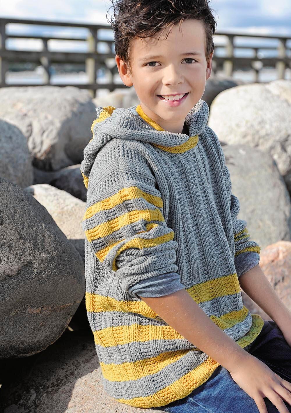 Вязание на спицах для детей капюшон