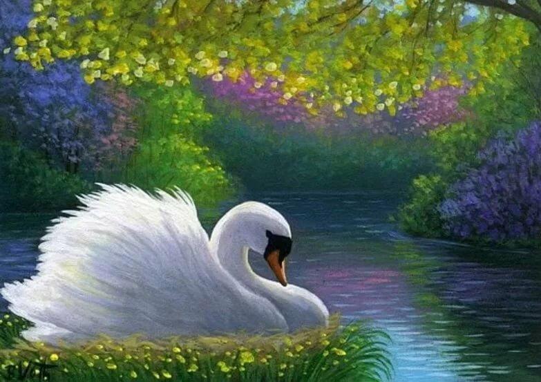 качестве лебедь картинка блестяшками мной стояла
