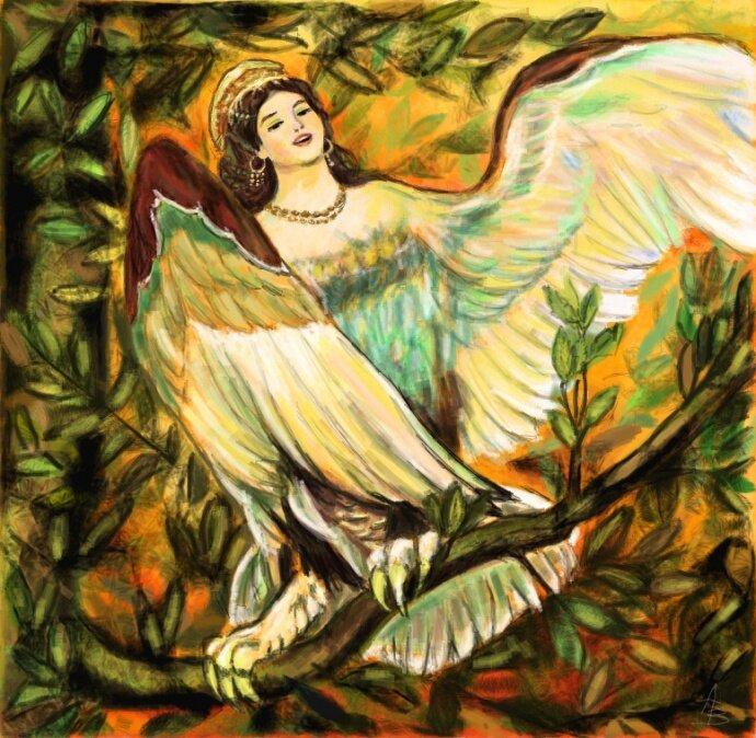 Картинки красивые птица сирин