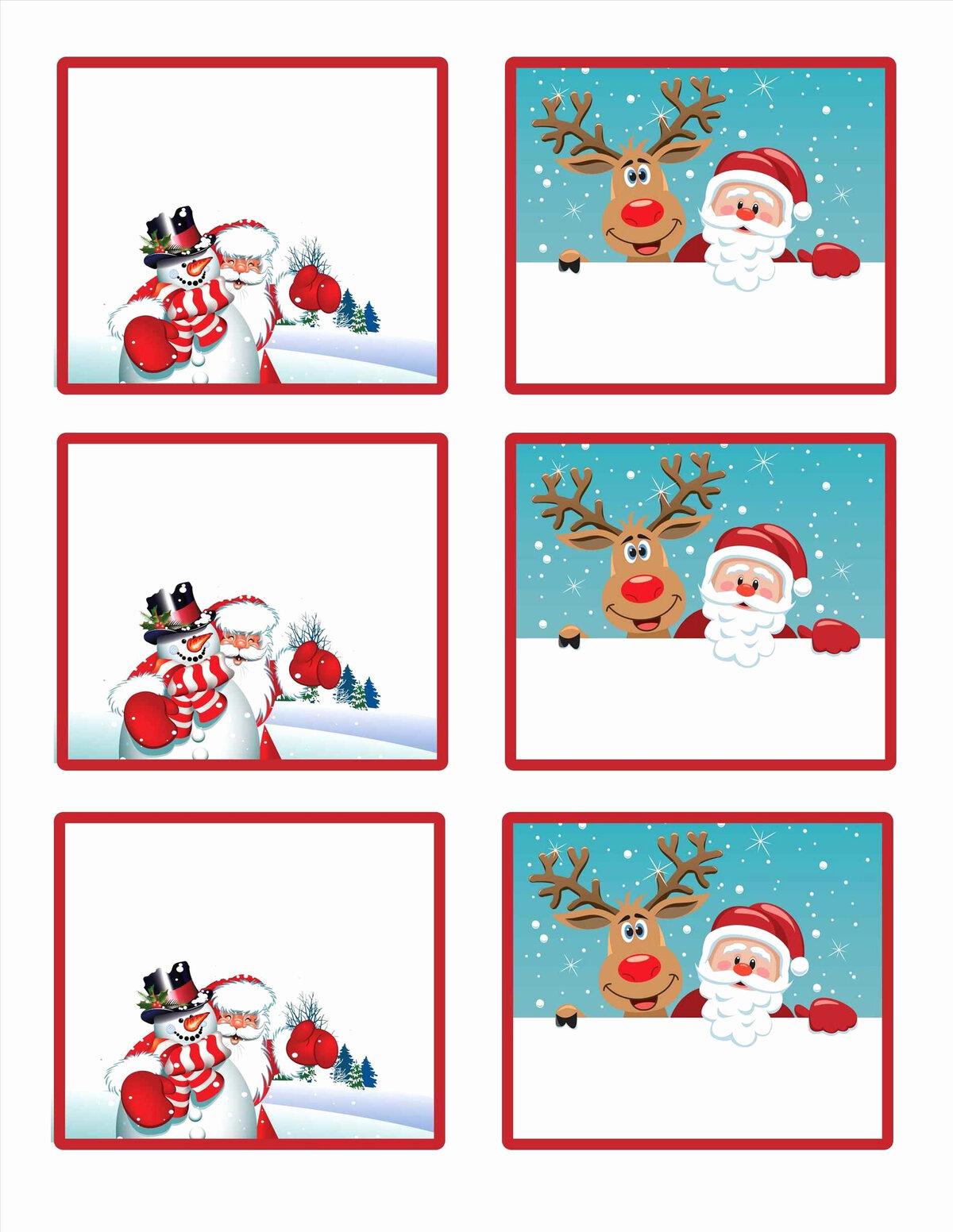 Мини открытка на новый год распечатать, картинки