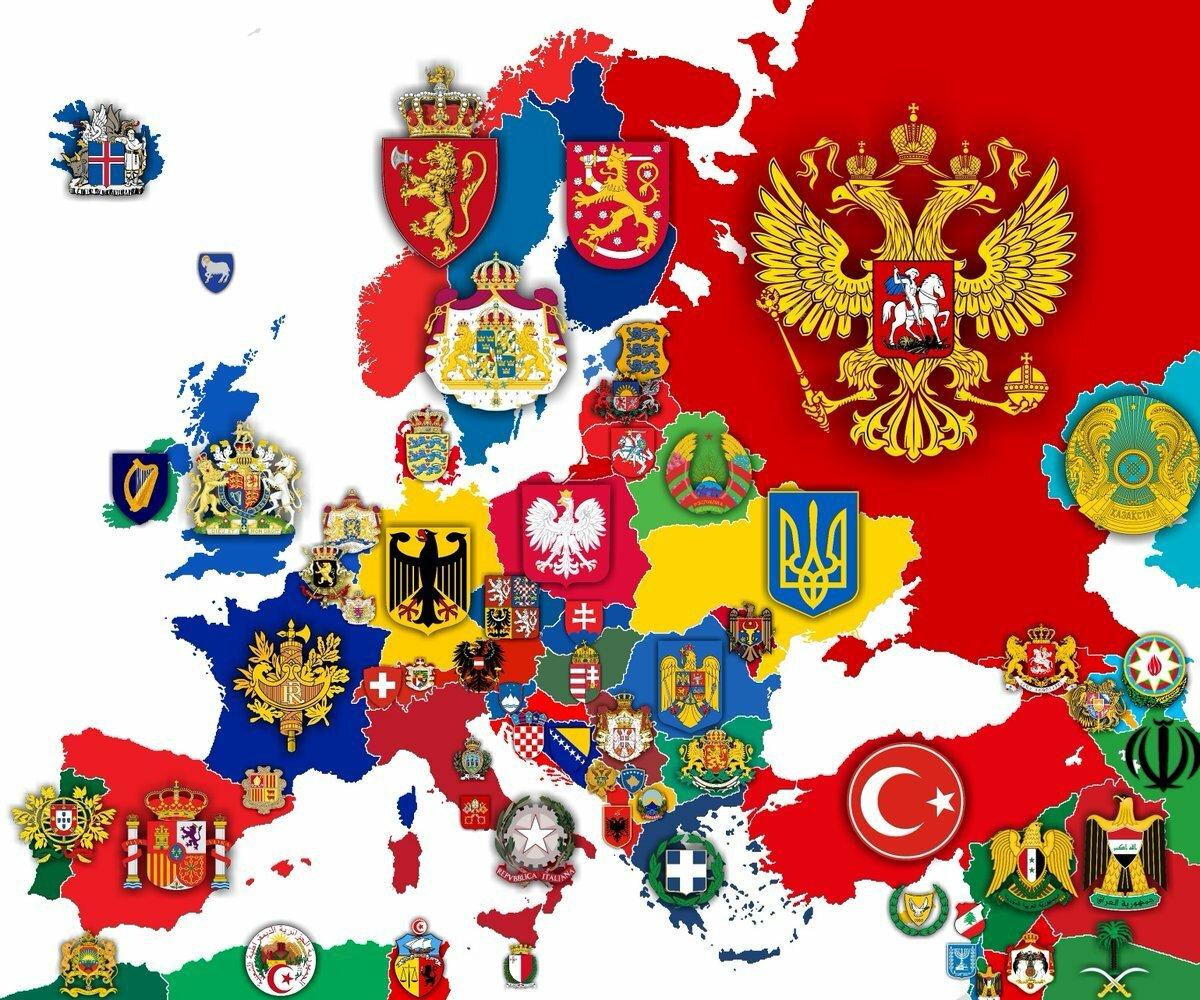 Гербы стран картинка