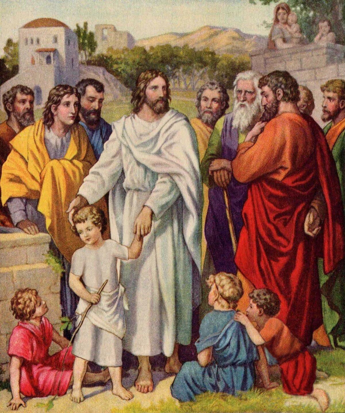 Картинка иисус благословляет детей