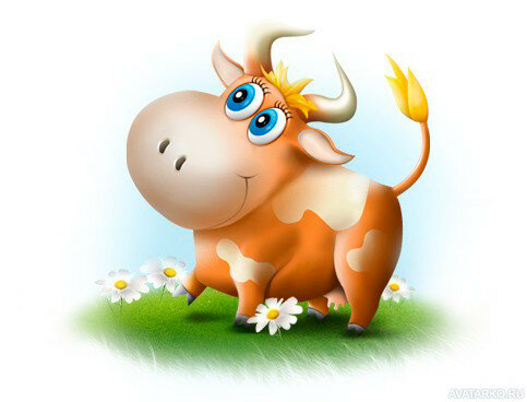 Смешные рисунки коровы, день рождения мальчику