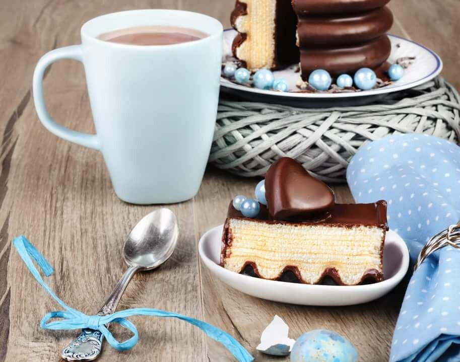 Картинки с кофем и пирожными красивые, смешного
