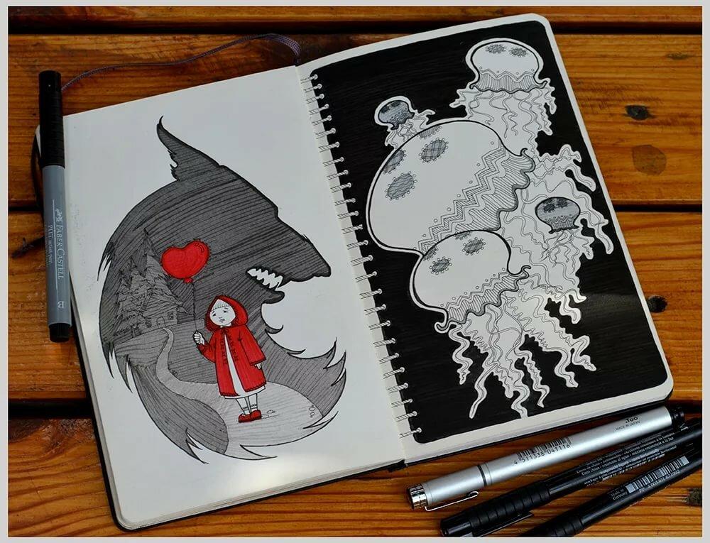 Крутые рисунки для блокнотов, маме день рождения