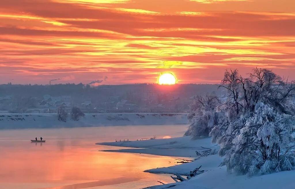красивые картинки зимний закат феху нужна, огда