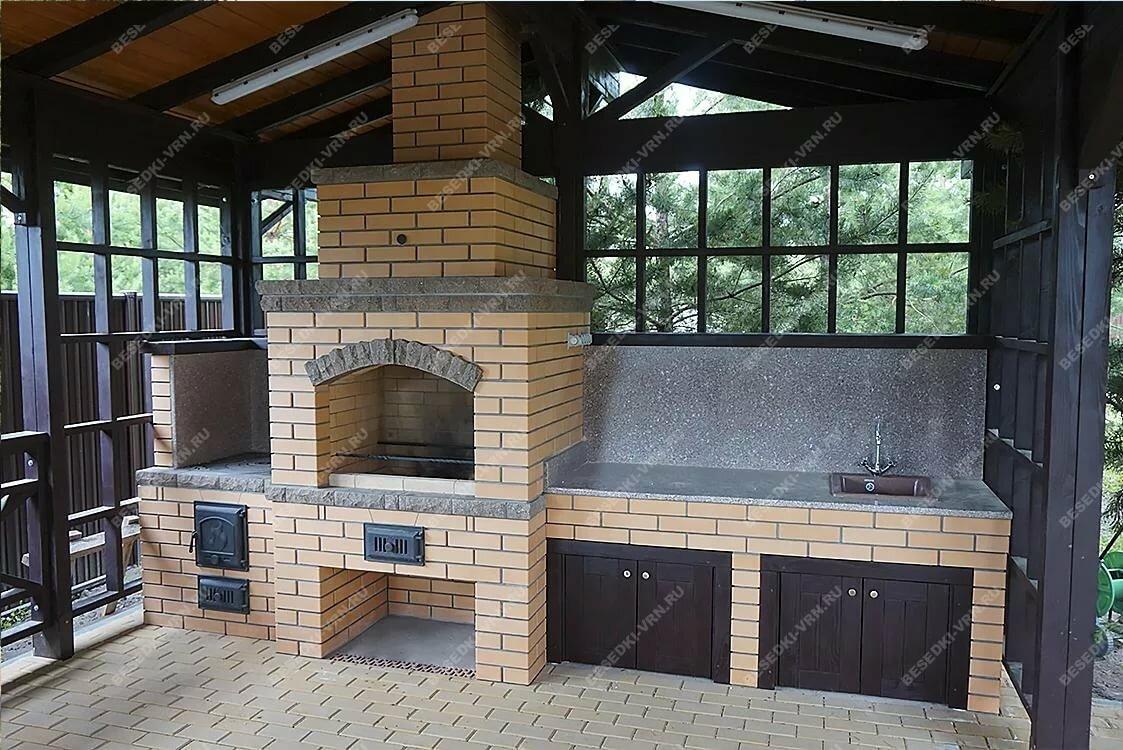 Летняя кухня с мангалом картинки