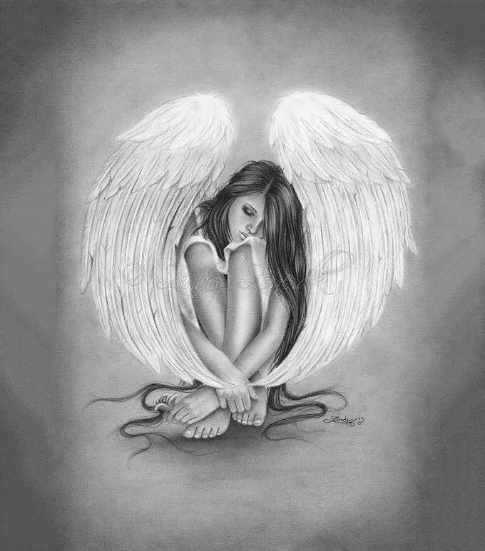 смешайте красивые рисунки ангелов рисунки сильная, яркая