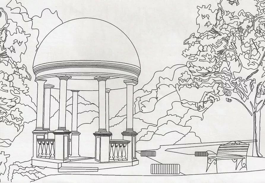 раскраска памятники архитектуры стал современнее