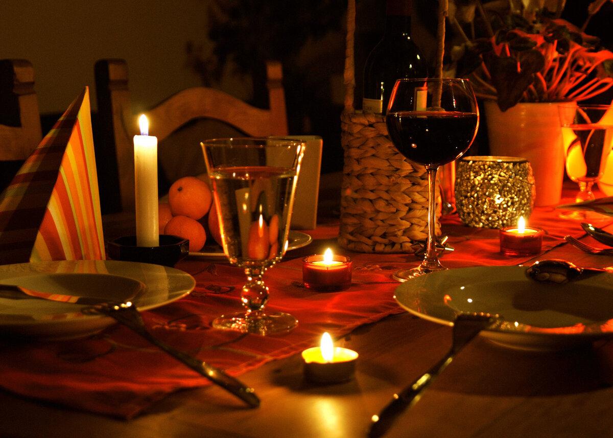 Рабочая неделя, картинки романтический вечер на двоих дома