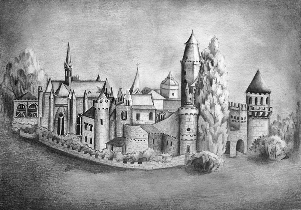 Рисованная картинка замка