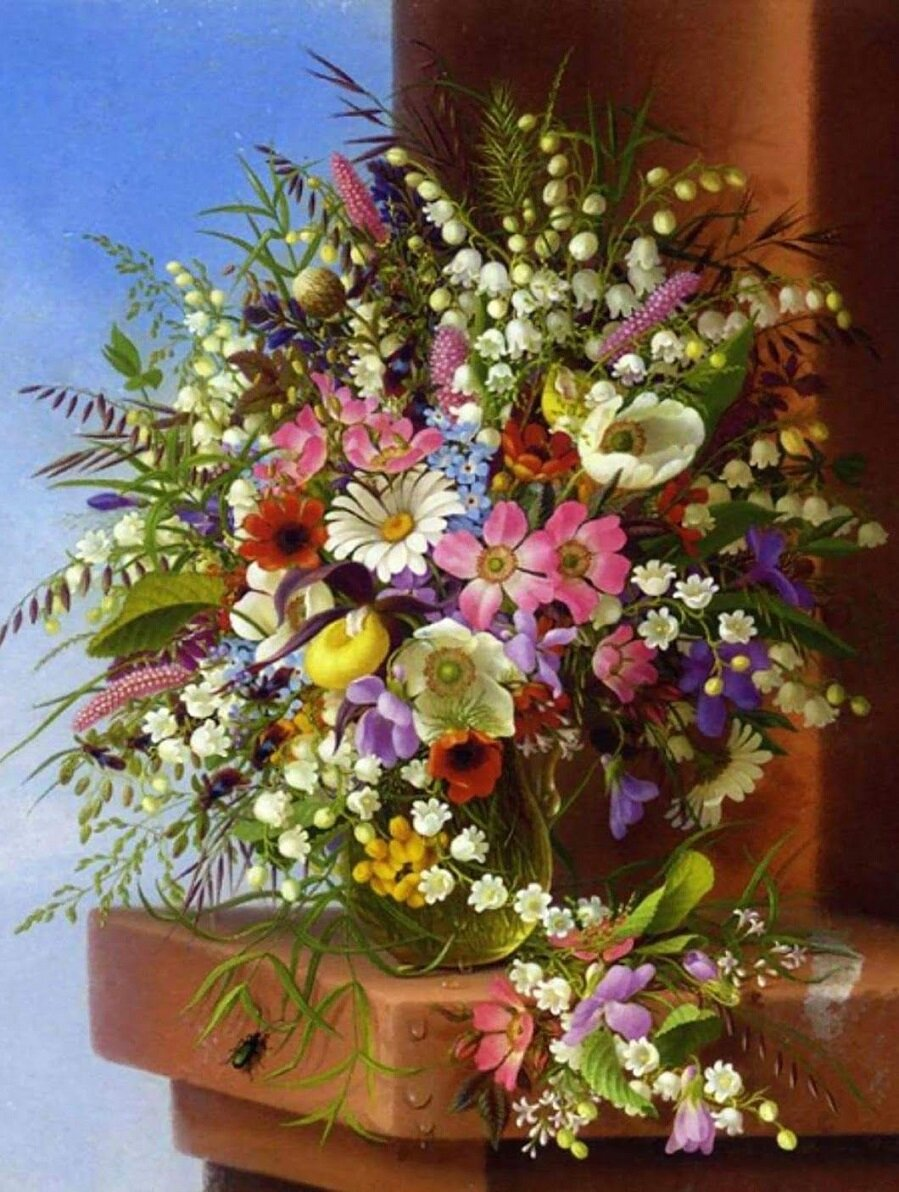 Открытки букеты полевые цветы