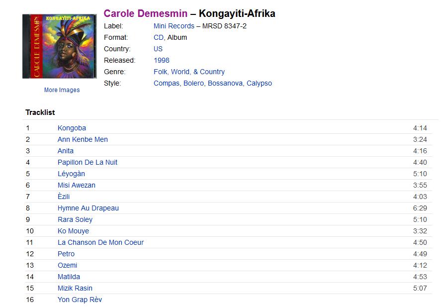 Carole Demesmin – Kongayiti-Afrika  S1200