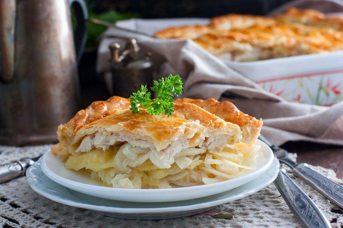 пирог с курицей и картофелем фото вас было