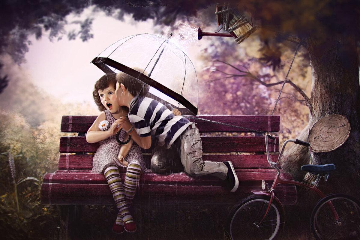 Прикольные картинки девочки и мальчика на аву, снов