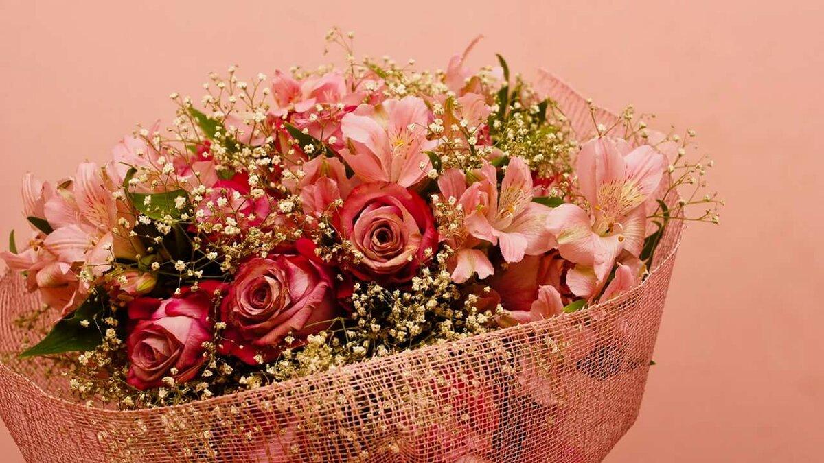 Картинка с днем рождения с цветами и шарами анимированные