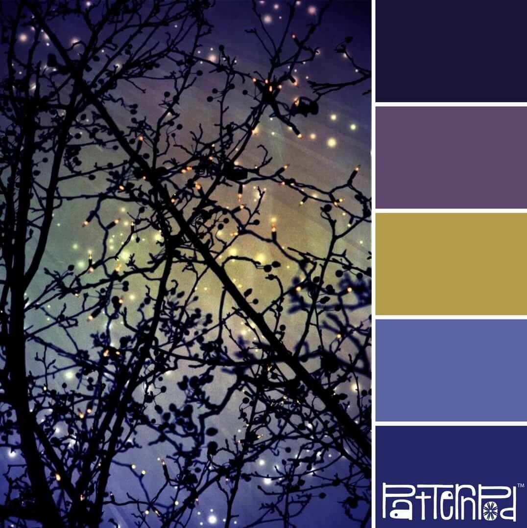 Картинки с палитрой цветов ночной