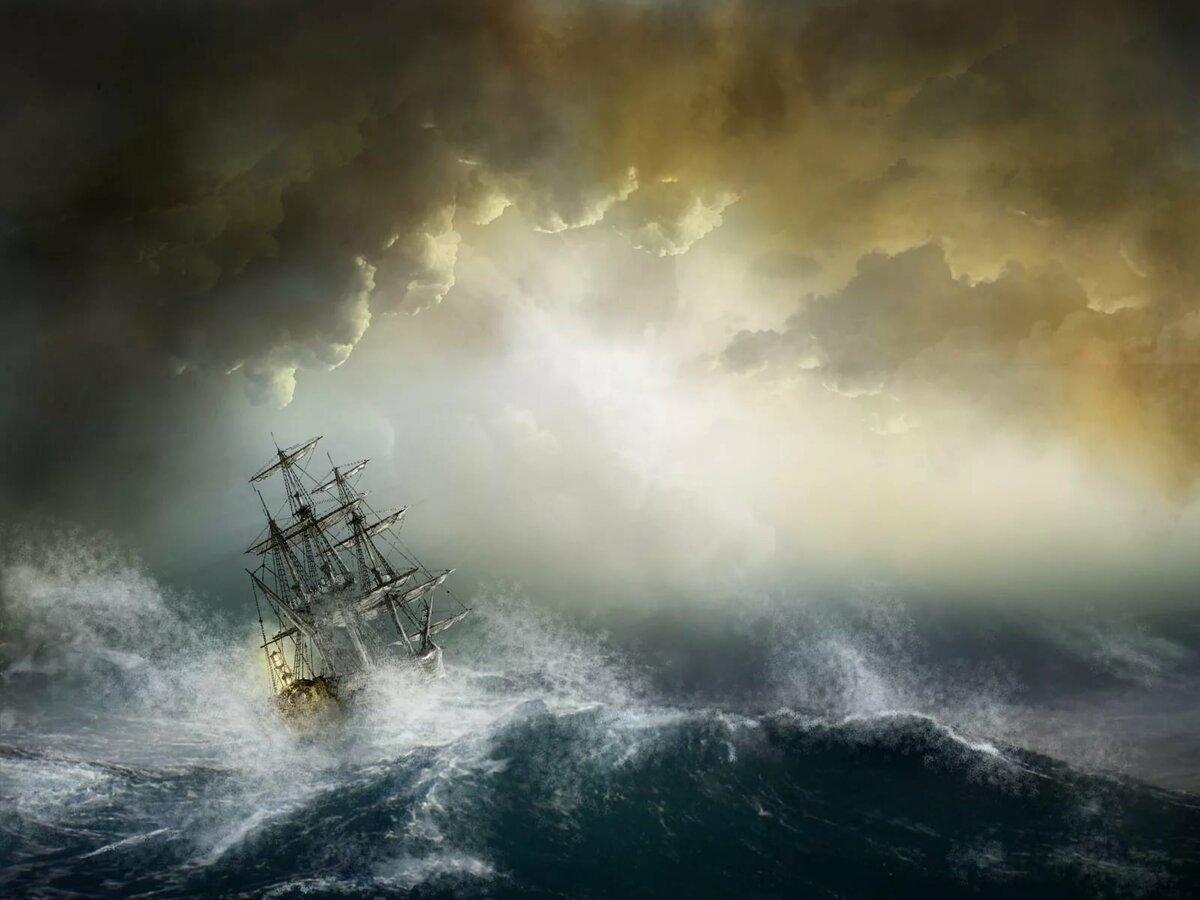 Картинки морской бури