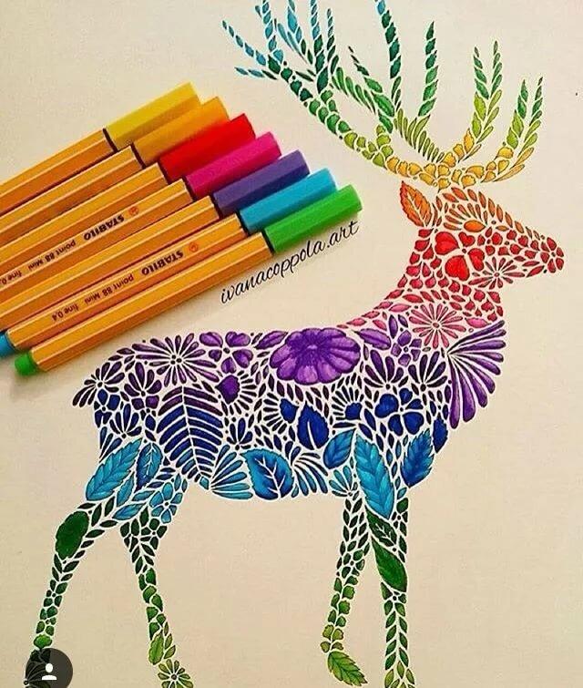 Как ярко раскрасить картинку карандашами