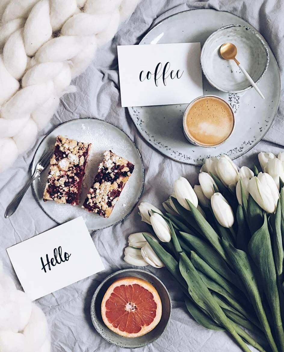Елку, доброе утро стильные открытки лето