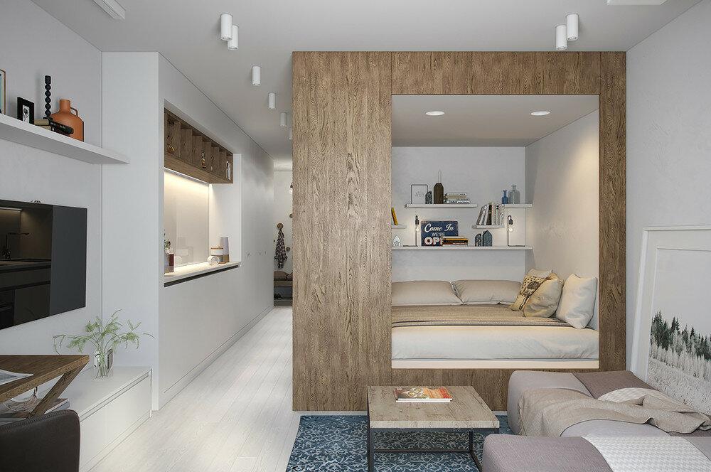 Дизайн проект трехкомнатной квартиры в Москве