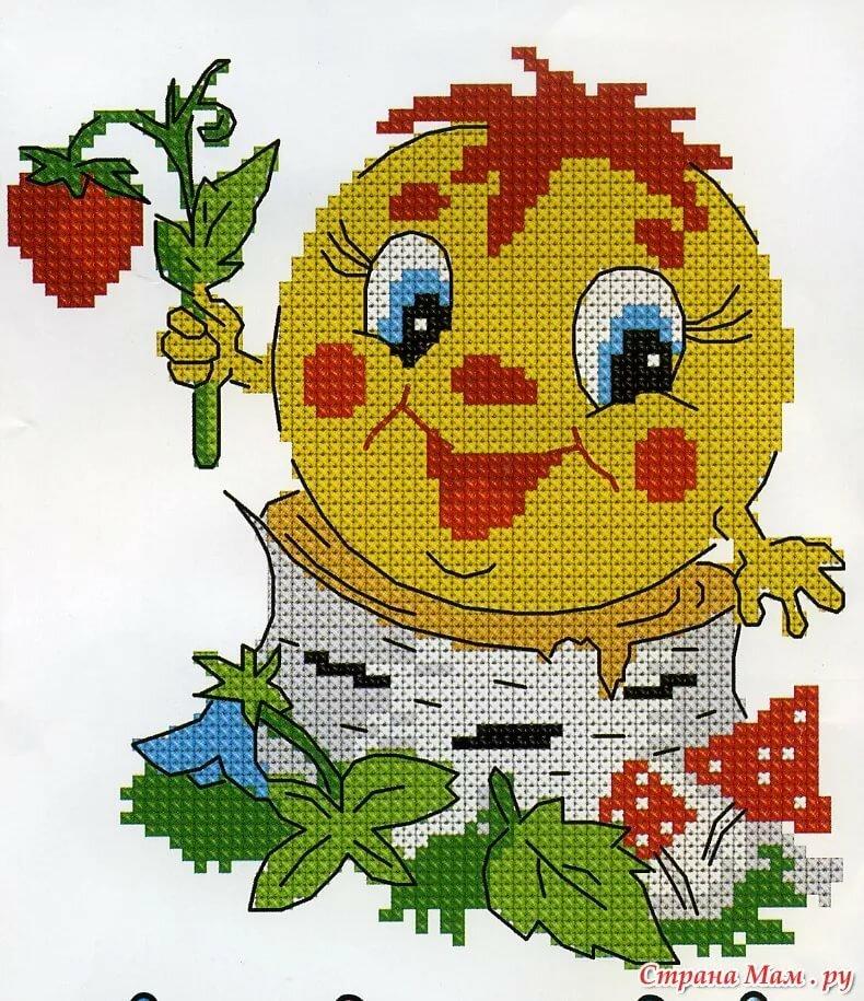 Вышивки для детей в картинках