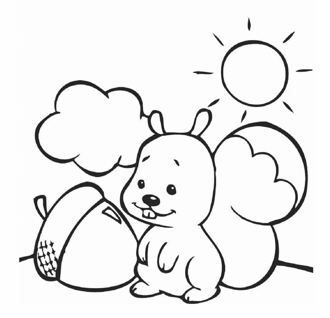 Картинки детские для раскрашивания для распечатки для малышей