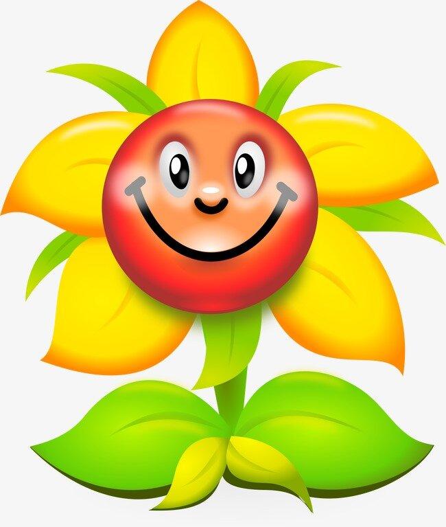 Нарисовать смешные цветочки