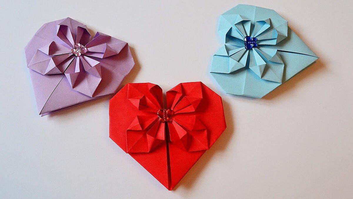 Днем рождения, валентинки открытки оригами