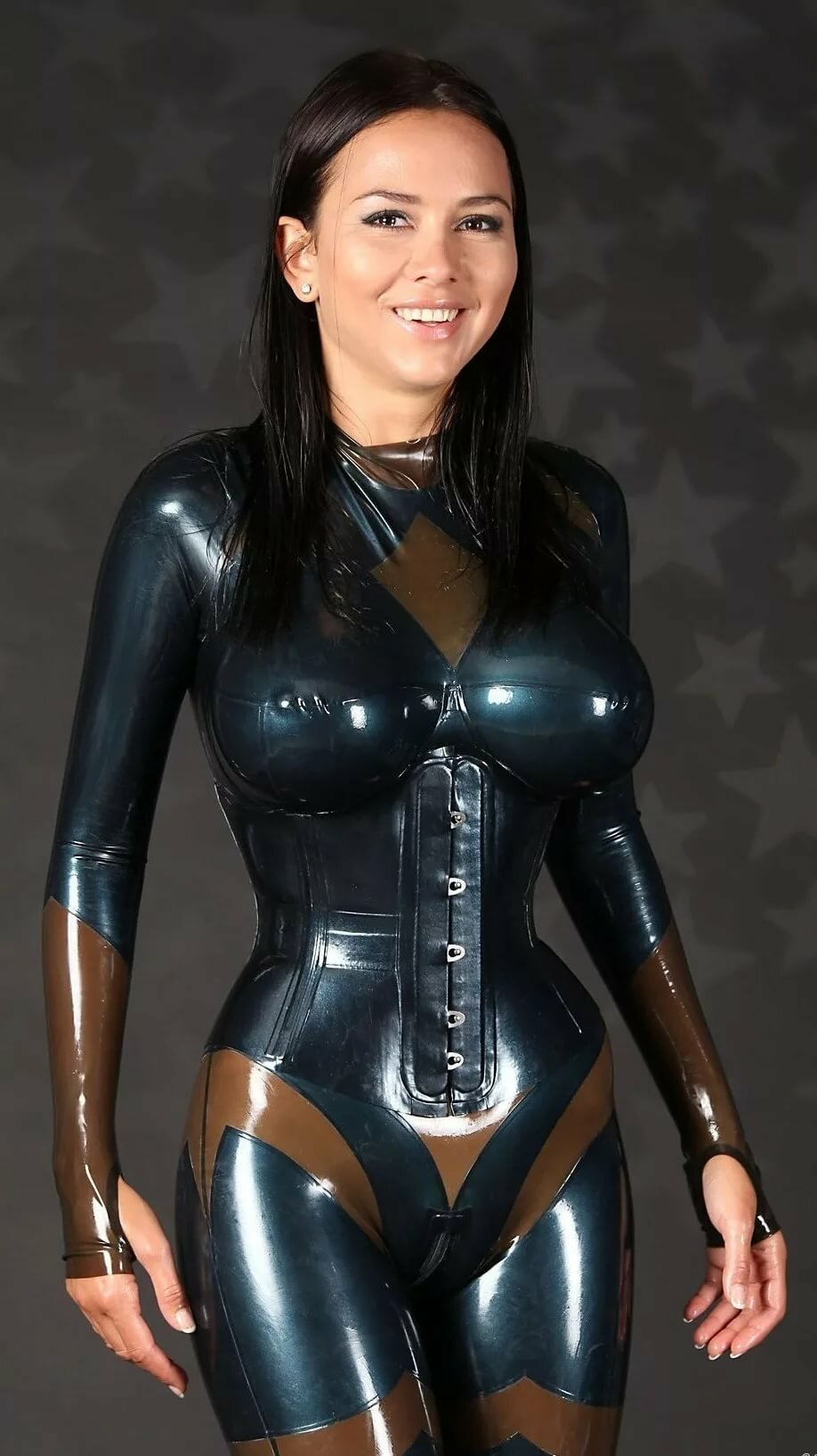 Three way girls latex 1