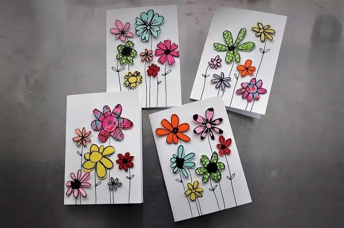 Как сделать открытку с картинками, открытки