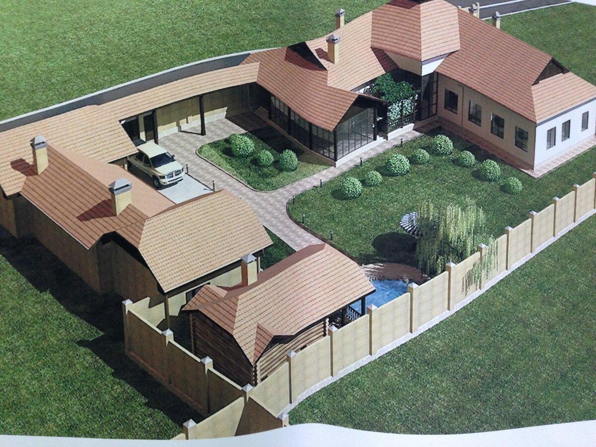 дом стоит на двух земельных участках