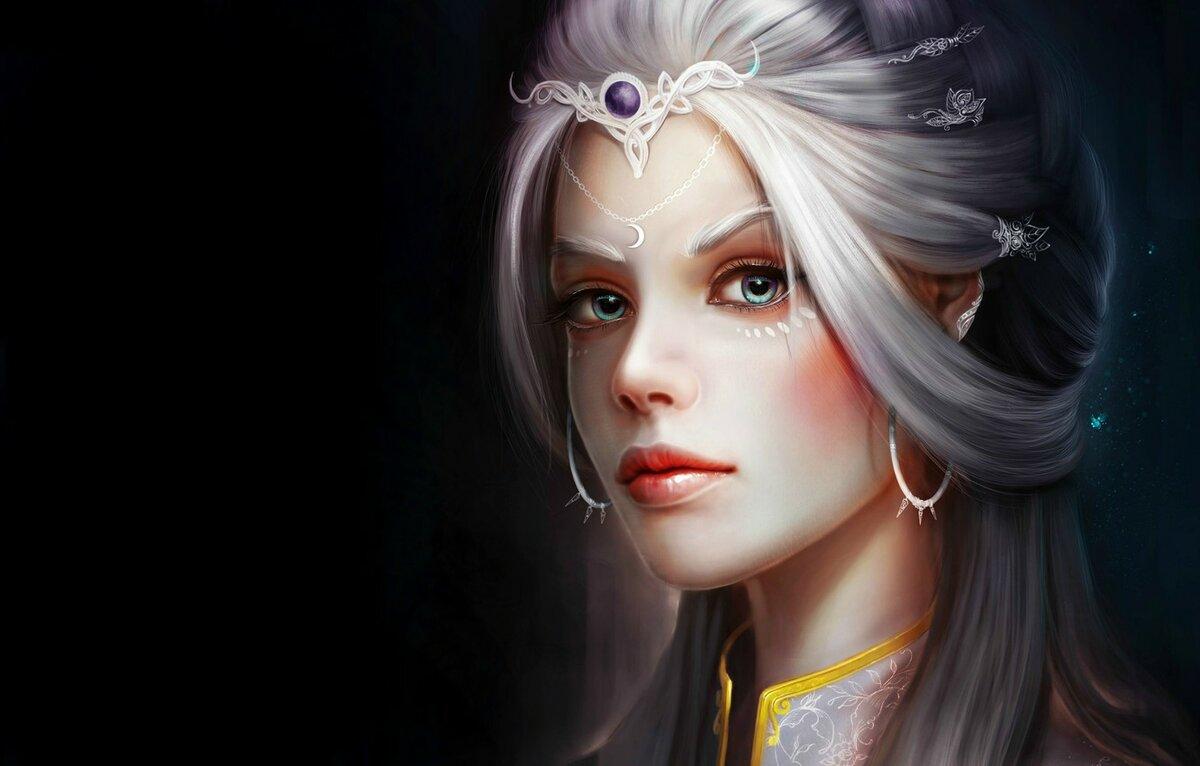 Картинки эльфов с голубыми глазами итоге