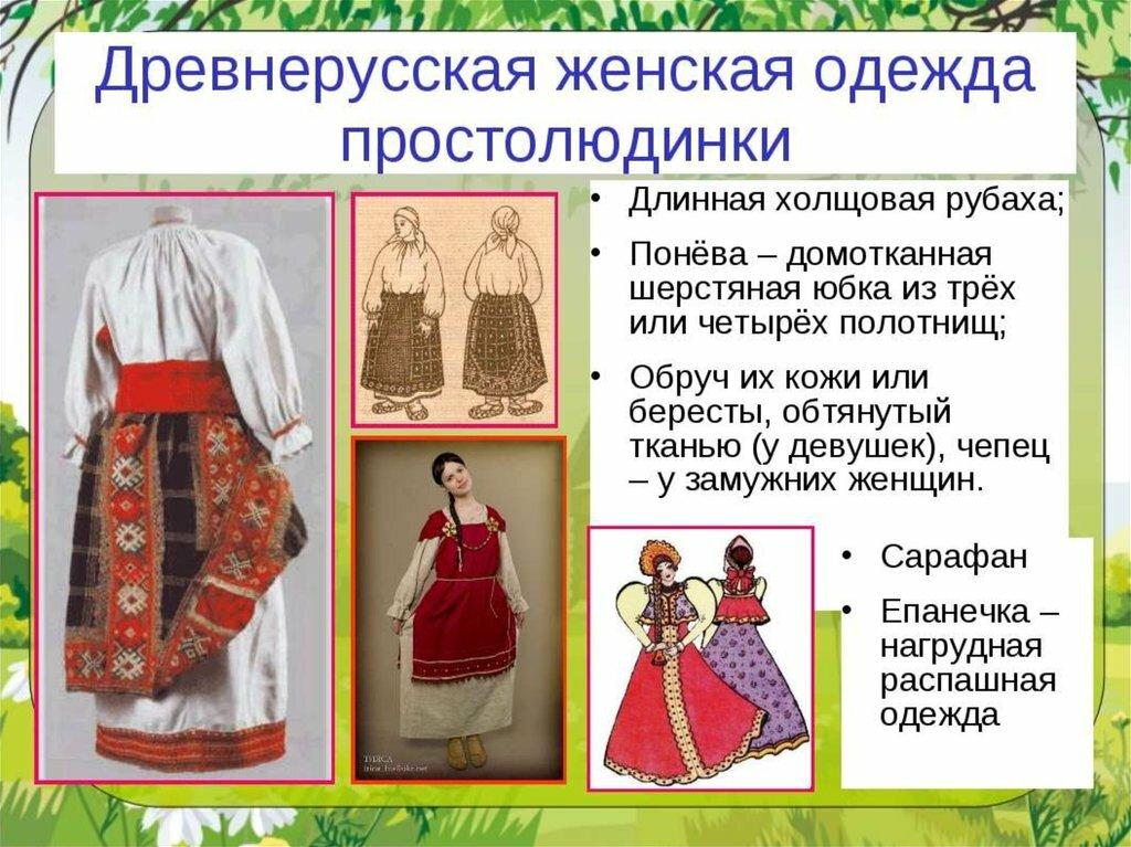 история русских народных костюмов с картинками