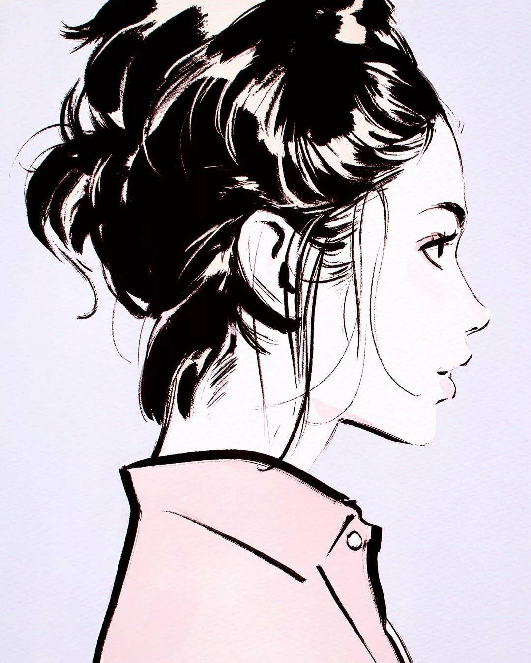 Картинки девушек в профиле