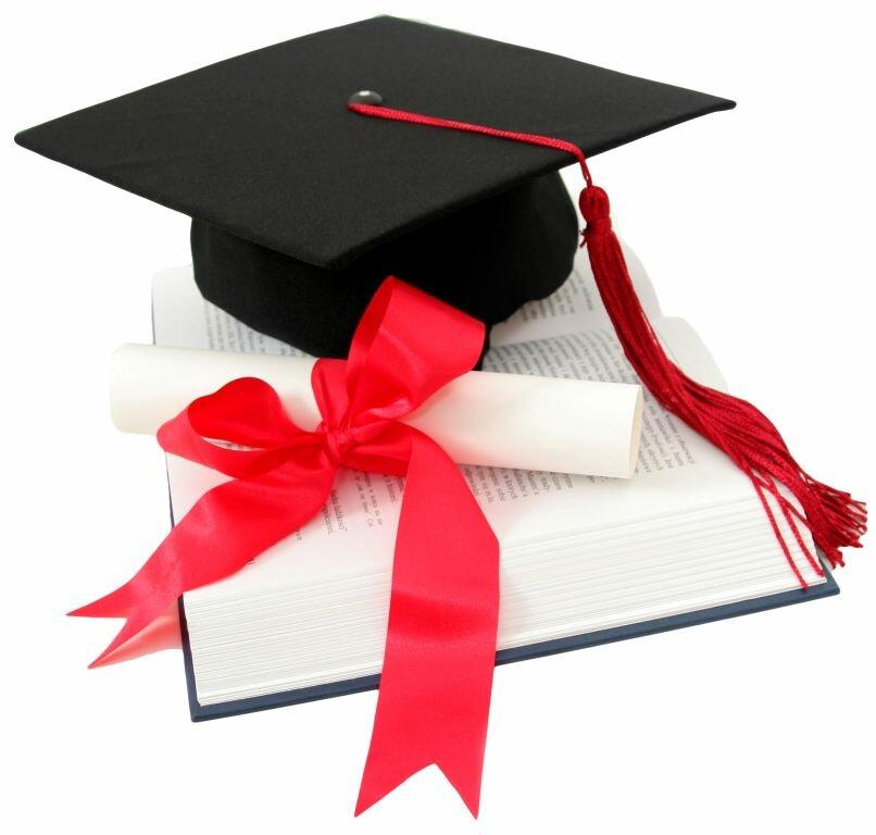 Учении, открытка с окончанием института защиты диплома
