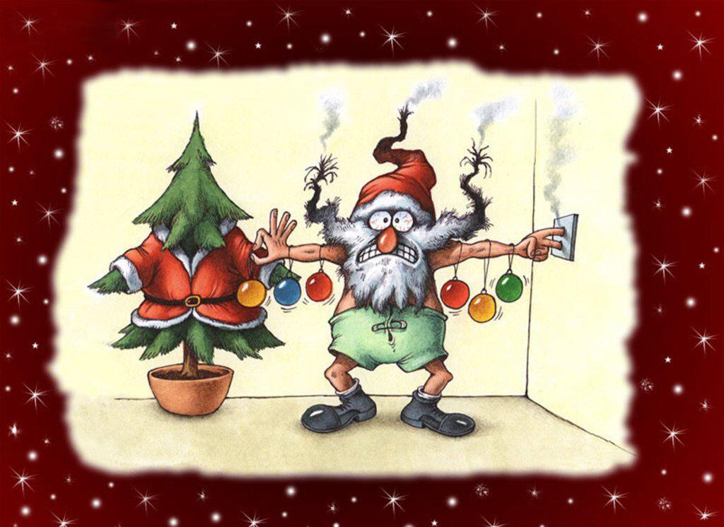 Новогодние рисунки веселые