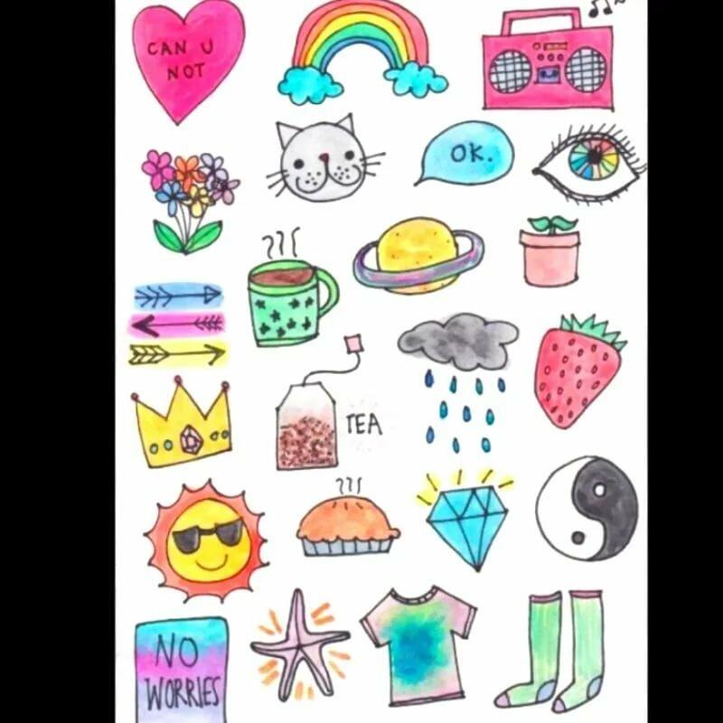 Красивые прикольные рисунки для личного дневника